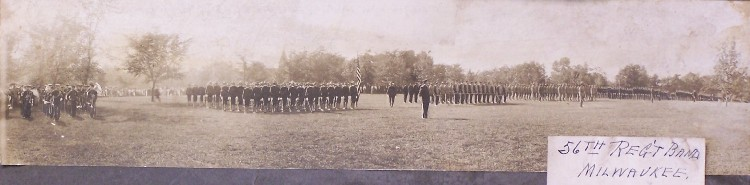 1905 - 56th Regimental Band on parade ground